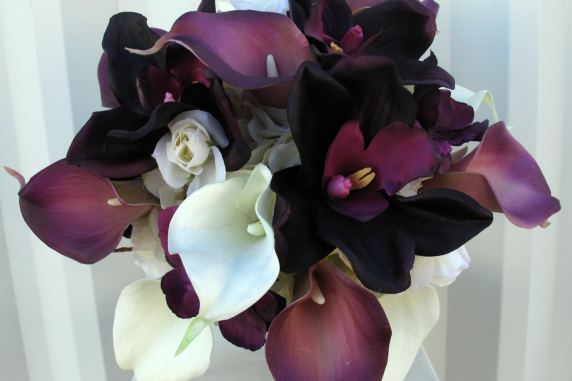 Plum calla lily Wedding bouquet