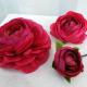 Wedding hair accessories Hot pink flower hair pins