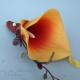 Orange calla lily boutonniere