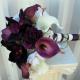 Plum calla lily Wedding bouquet
