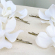 Wedding hair accessories White orchid hair pins