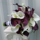 Plum purple Calla lily Wedding bouquet