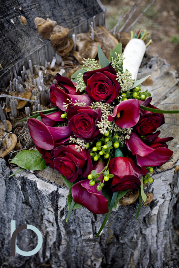 Black Bacarra Majestic Red Calla Lily Presentation Bouquet Bride In Bloom