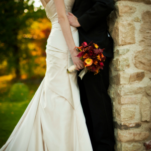 Autumn calla orchid Wedding bouquet