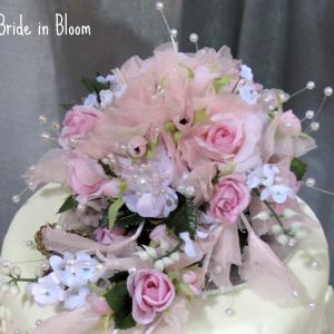 Pink sweetheart rose cake topper