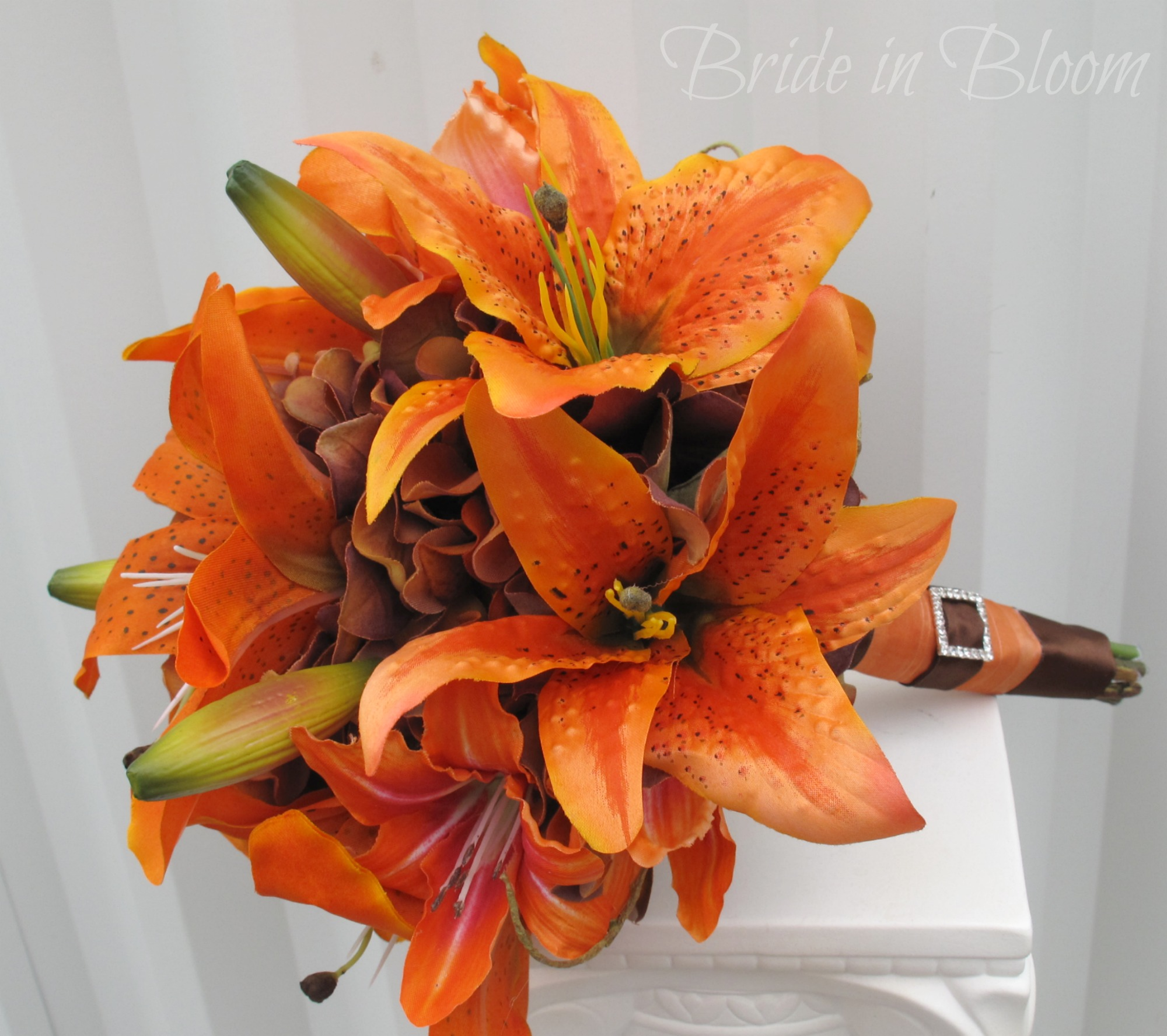 Lily Flower Wedding Bouquet: Tiger Lily Wedding Bouquet Silk Bridal Bouquet