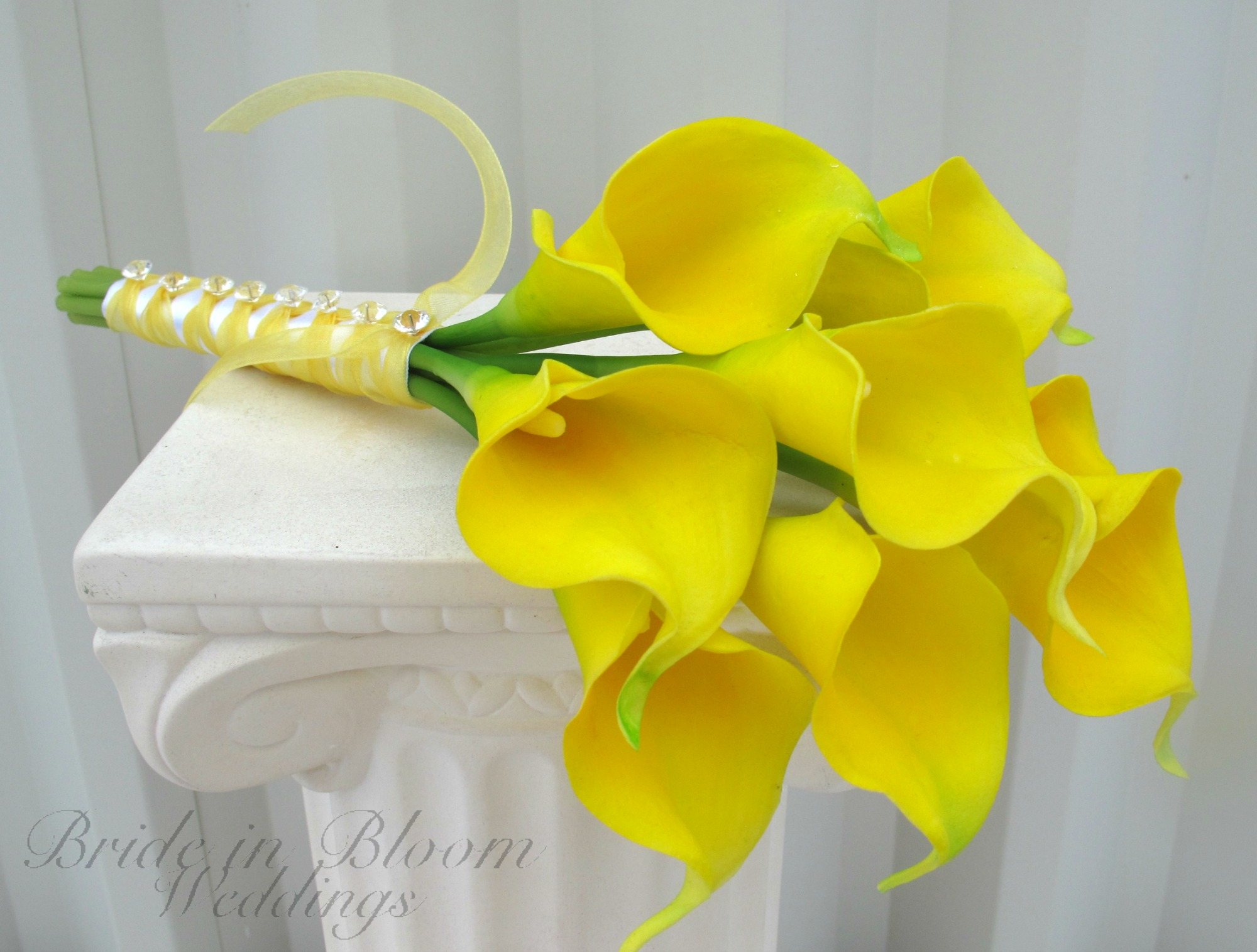 Yellow Lilies Wedding Bouquet Yellow Calla Lily Wedding