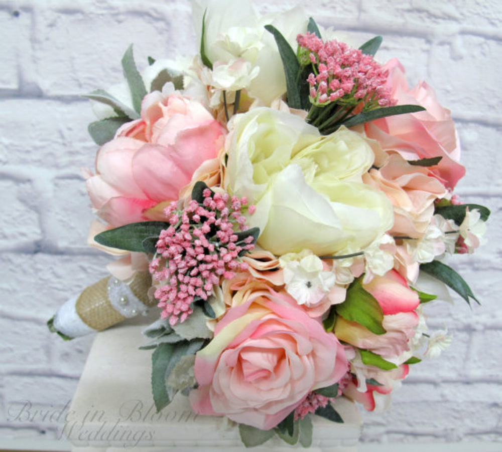 peony roses wedding bouquet pink peony wedding bouquet in bloom 6449